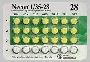 Necon 1/35 ethinyl estradiol 0.035 mg / norethindrone 1 mg