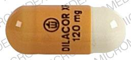 Pill Imprint Logo DILACOR XR 120 mg (Dilacor XR 120 mg)