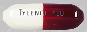 Pill Imprint TYLENOL FLU (TYLENOL FLU MAXIMUM STRENGTH 500 mg / 15 mg / 30 mg)