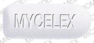 Pill Imprint MYCELEX  (MYCELEX-G 500 MG)