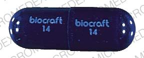 Pill Imprint biocraft 14 (OXACILLIN SODIUM 500 MG)