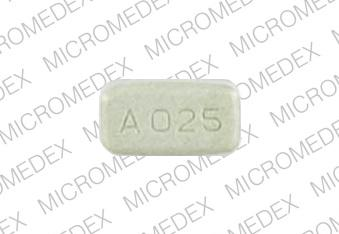 Permax 0.25 MG 2 square imprints A 025 Front