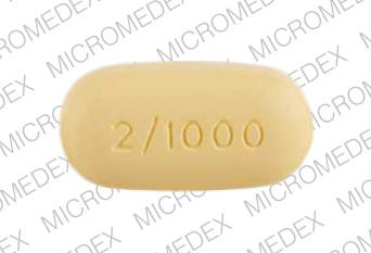Avandamet 1000 mg / 2 mg gsk 2/1000 Back