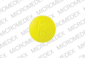 Thioridazine hydrochloride 50 mg MP 17  Front