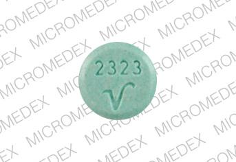 Pill Imprint 2323 V (Bellaspas 0.2 MG-0.6 MG-40 MG)