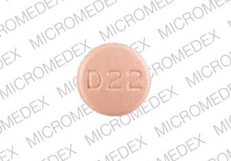 Doxycycline monohydrate 75 mg M D 22 Back