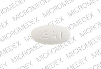 Fosinopril sodium 10 mg E 41  Front