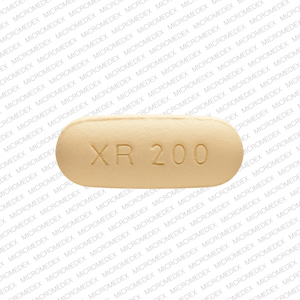 Pill Imprint XR 200 (Seroquel XR 200 mg)