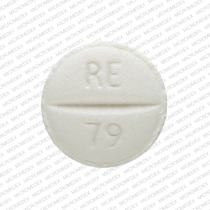 Metoprolol tartrate 25 mg RE 79 Back