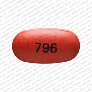 Divalproex sodium delayed-release 125 mg 796 Front
