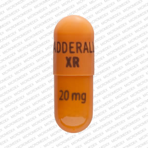 Adderall XR 20 mg ADDERALL XR 20 mg