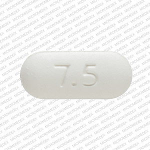 Acetaminophen and hydrocodone bitartrate 300 mg / 7.5 mg BP 649 7.5 Back