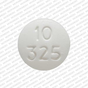 Acetaminophen and oxycodone hydrochloride 325 mg / 10 mg RP 10 325 Front