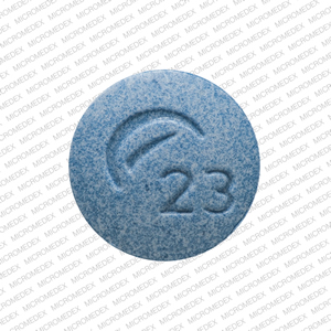 Amphetamine and dextroamphetamine 10 mg Logo (Actavis) 23 Front