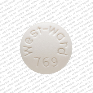 Isosorbide dinitrate 5 mg West-ward 769 Front