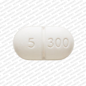 Pill Imprint VICODIN 5 300 (Vicodin 300 mg / 5 mg)