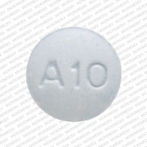 Amlodipine besylate 10 mg M A10 Back