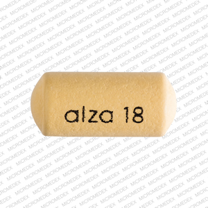 Alza 18 Pill Images (Yellow / Elliptical / Oval)