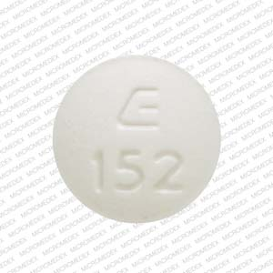 Hydrochlorothiazide and lisinopril 12.5 mg / 20 mg E 152  Front