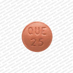 Quetiapine fumarate 25 mg APO QUE 25 Back