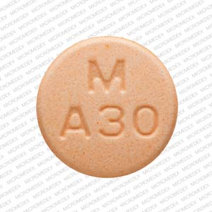 Amphetamine and Dextroamphetamine M A30