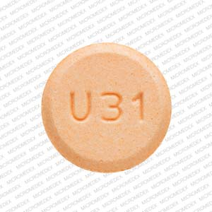 Amphetamine and dextroamphetamine 30 mg U31  Front