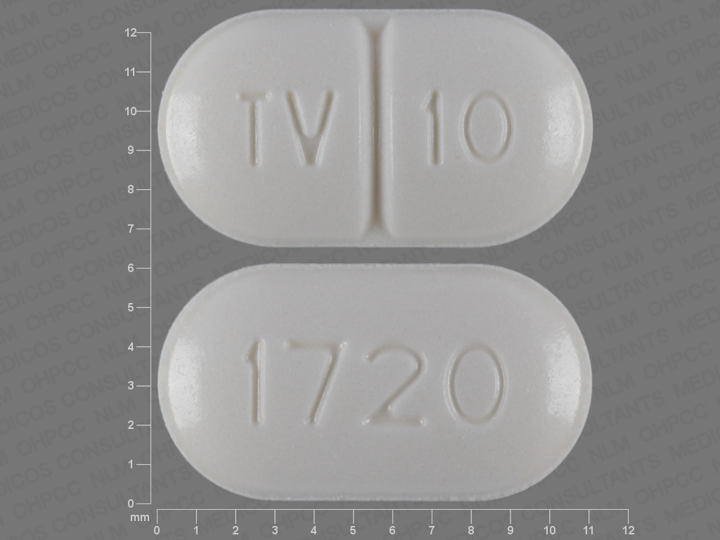 Warfarin sodium 10 mg TV 10 1720
