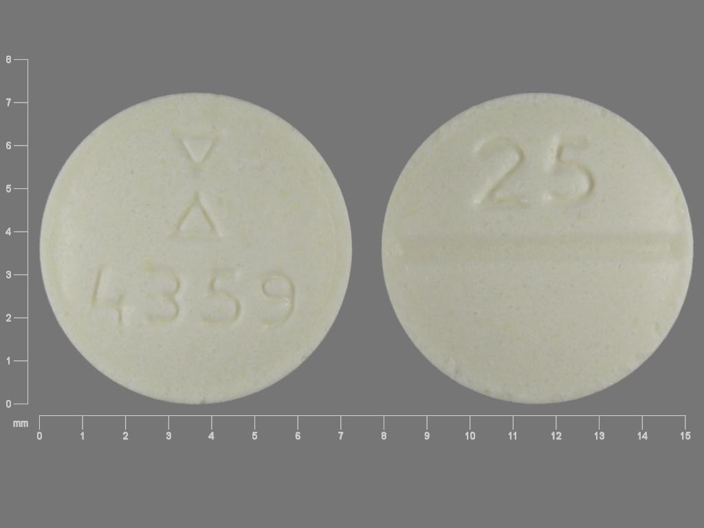 Clozapine 25 mg Logo 4359 25