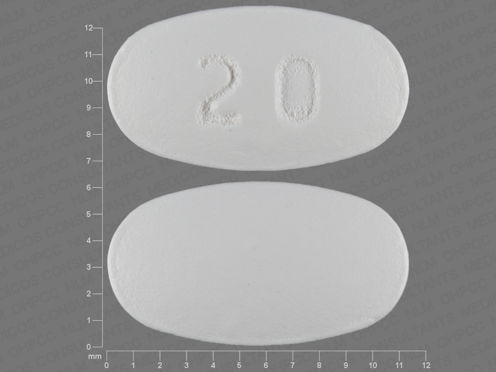 20 White And Elliptical / Oval - Pill Identification ...