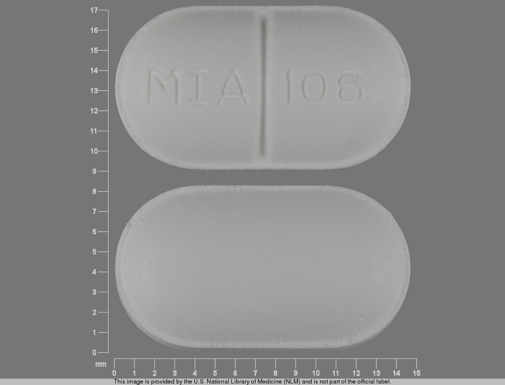 Acetaminophen and butalbital 325 mg / 50mg MIA 106