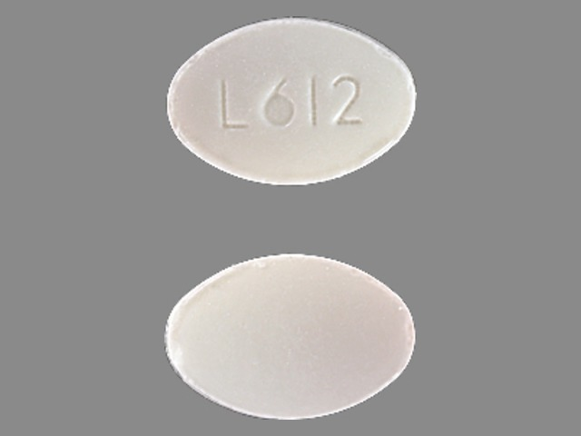 L612 Pill Images White Elliptical Oval