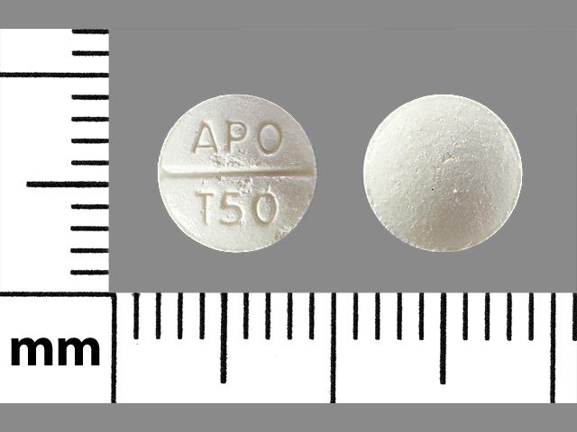 Trazodone hydrochloride 50 mg APO T50