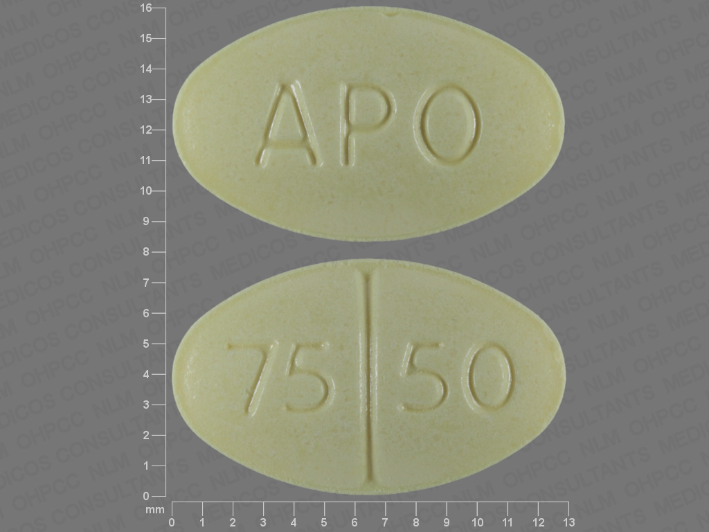 Hydrochlorothiazide and triamterene 50 mg / 75 mg APO 75 50