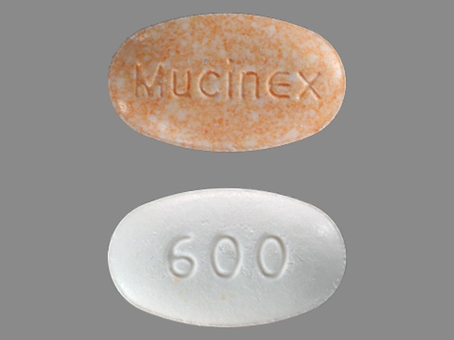 Mucinex 600 Pill Images Orange White Elliptical Oval