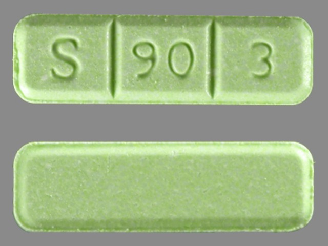 S903 Pill Green >> S 90 3 Pill Images (Green / Rectangle)