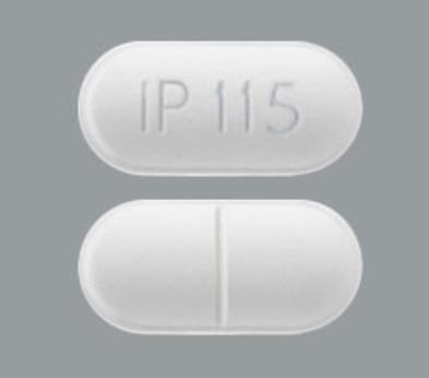 Acetaminophen and hydrocodone bitartrate 325 mg / 7.5 mg IP 115