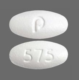 Pill Imprint p 575 (Amlodipine Besylate and Valsartan 10 mg / 160 mg)