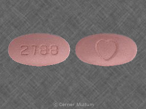 Avalide 25 mg / 300 mg 2788 Heart logo