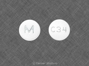 Carvedilol 25 mg M C34