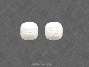 Pill Imprint 7230 93 (Cilostazol 50 mg)