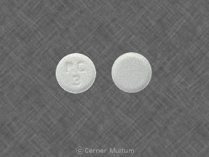 Fosinopril sodium and hydrochlorothiazide 10 mg / 12.5 mg RC 3