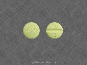 Hydrochlorothiazide and triamterene 50 mg / 75 mg MYLAN TH 2