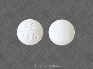 Methocarbamol 500 mg GG 190