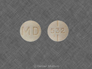 Methylphenidate hydrochloride 20 mg MD 532