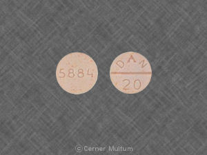 Methylphenidate hydrochloride 20 mg 5884 DAN 20