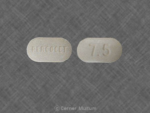 Percocet 7.5/500 500 mg / 7.5 mg