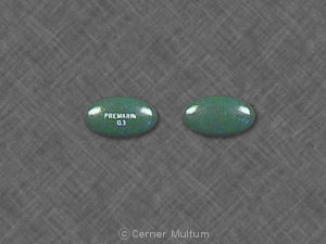 Premarin 0 3 Pill Images Green Elliptical Oval