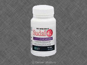 Sudal-12 chewable 4 mg / 30 mg A P 30 4