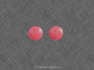 Thioridazine hydrochloride 25 mg GG 32 25
