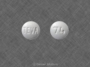 Pill Imprint TEVA 74 (Zolpidem Tartrate 10 mg)